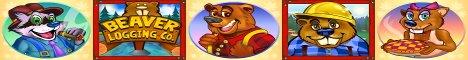 Builder Beaver Slot Machine Logo