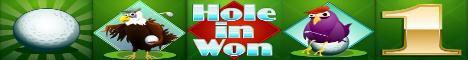 Hole in Won Slot Machine Logo